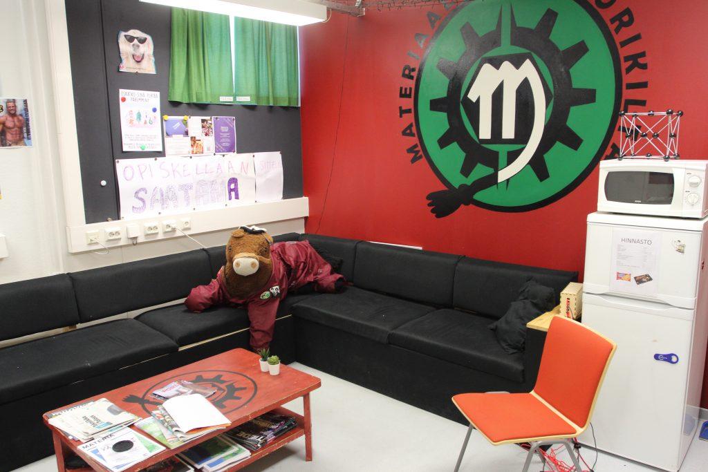 mascot Pärtsä at the guild room
